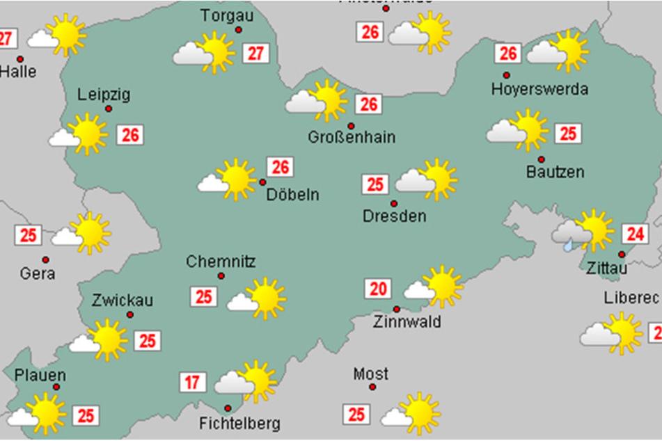 In ganz Sachsen wird es am Samstag sommerlich warm.