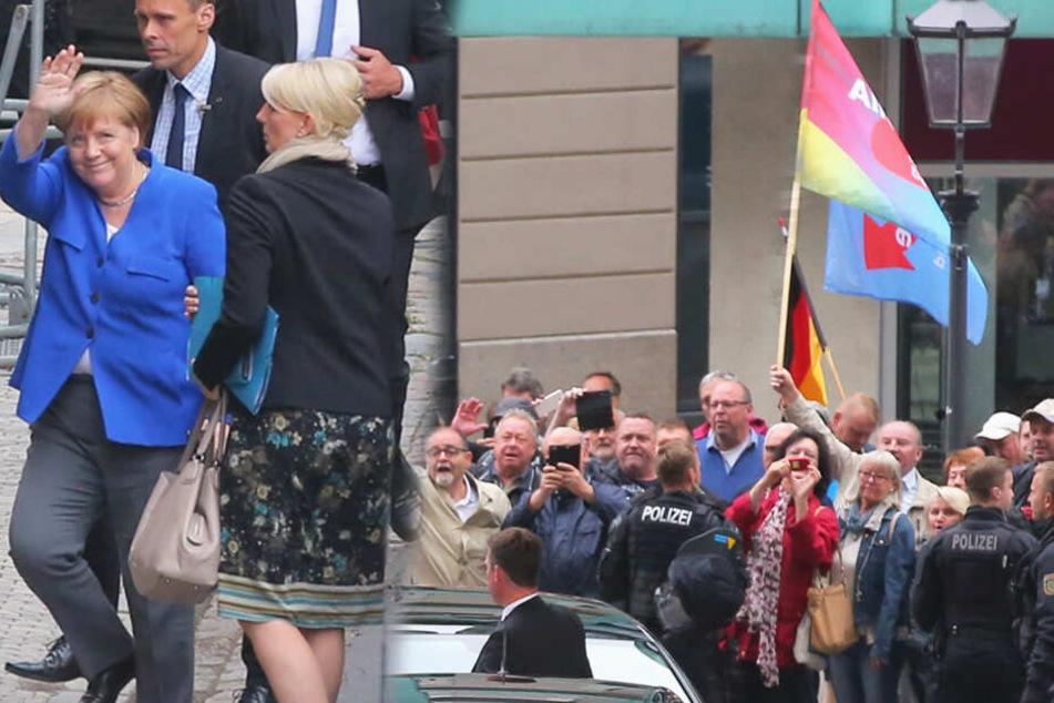 Flaschenwurf, Hitlergruß und Volksverhetzung bei Merkel-Besuch in Dresden
