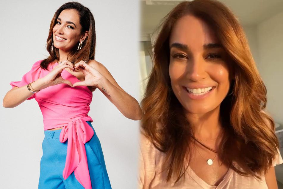 """Jana Ina Zarrella (44) moderiert die Frühjahrsstaffel von """"Love Island"""". (Fotomontage)"""