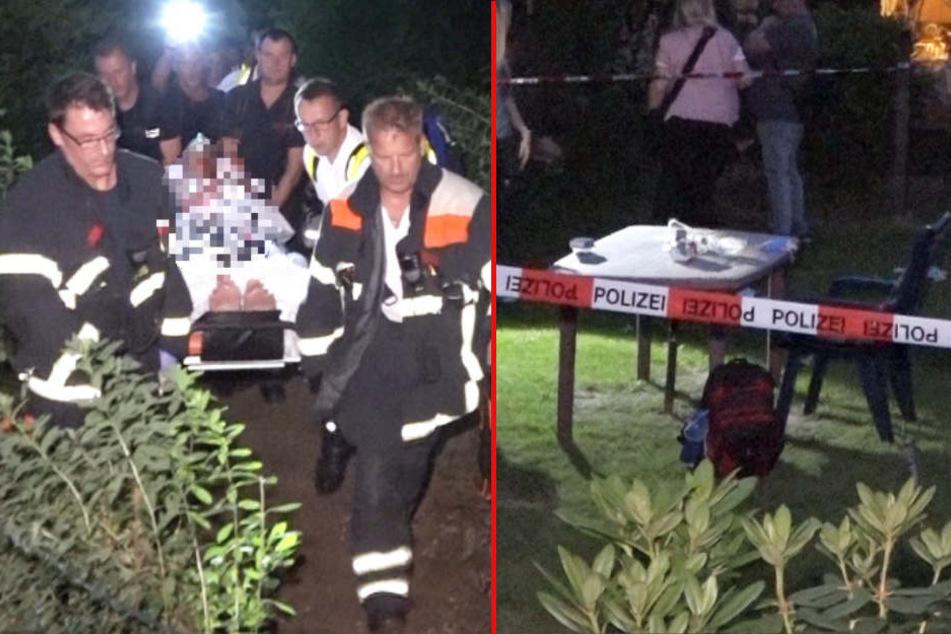 Blutige Attacke im Kleingartenverein: Mann von hinten niedergestochen!