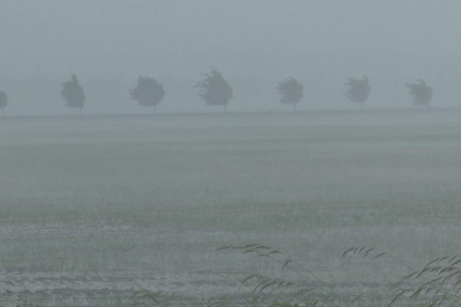 Wieder Unwetter und extremer Starkregen in Sachsen