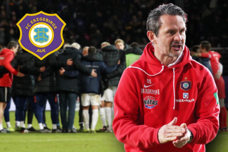 """Noch kein Sieg in 2020! Aue-Coach Schuster sieht dennoch """"Schritt in richtige Richtung"""""""