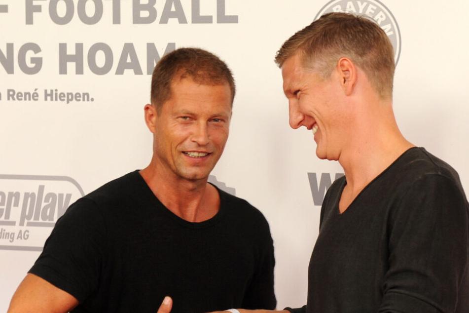 Til Schweiger (l) und Bastian Schweinsteiger bei einer Veranstaltung im Jahr 2013.