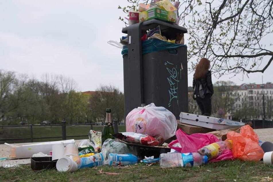 Mit Müllwächtern will Berlin in den kommenden Jahren das Müllproblem in den Griff bekommen.