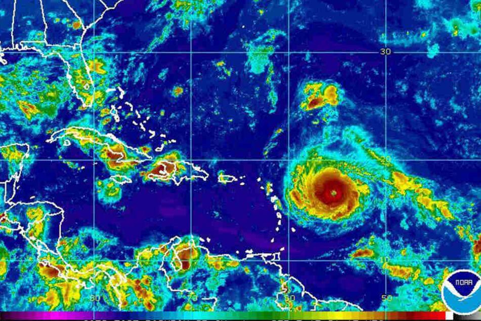 """Höchste Warnstufe! Neuer Hurrikan """"Irma"""" rollt auf Karibik und USA zu"""