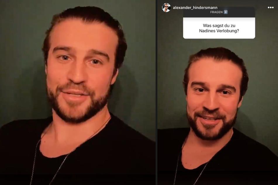 Alexander Hindersmann (32) beantwortete bei Instagram Fragen.