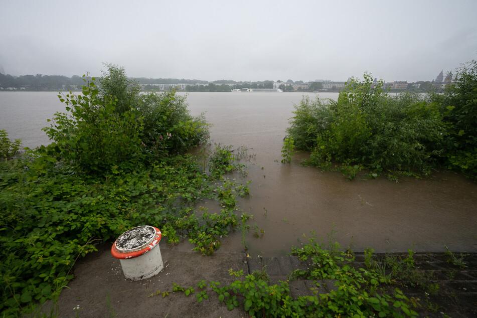 An zahlreichen Stellen wurde das Ufer überflutet.