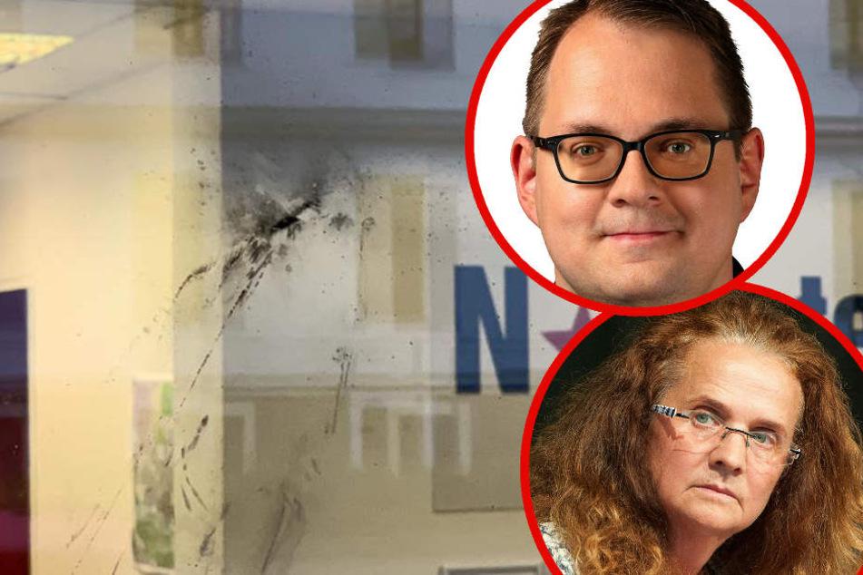 Das Büro von Sören Pellmann und Cornelia Falken ist seit mehreren Wochen ständiges Ziel von Anschlägen.