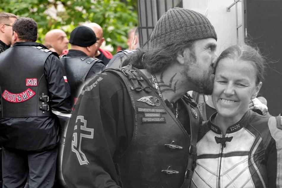 """Rocker-Korso zur Trauerfeier: Nachtwölfe nehmen Abschied von """"Schwester Olga"""""""