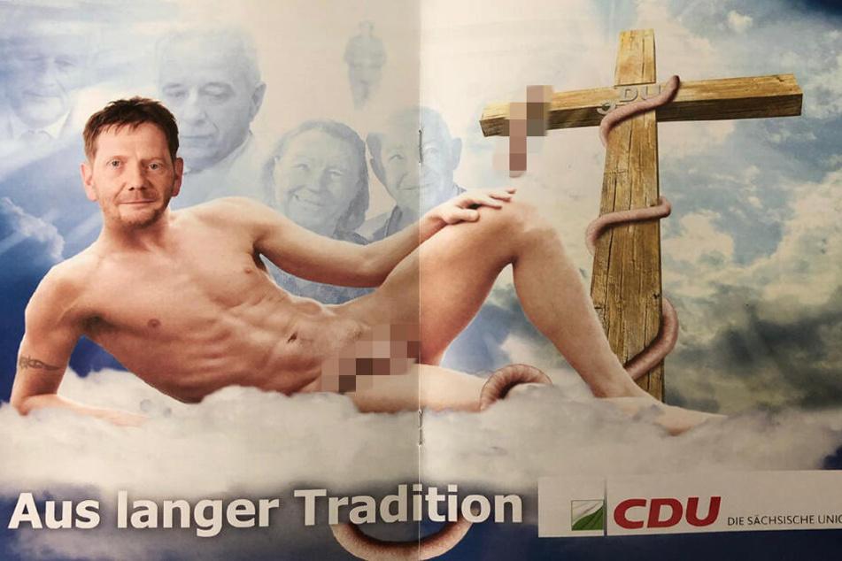 Dieses Plakat wurde in Dresden aufgehangen.