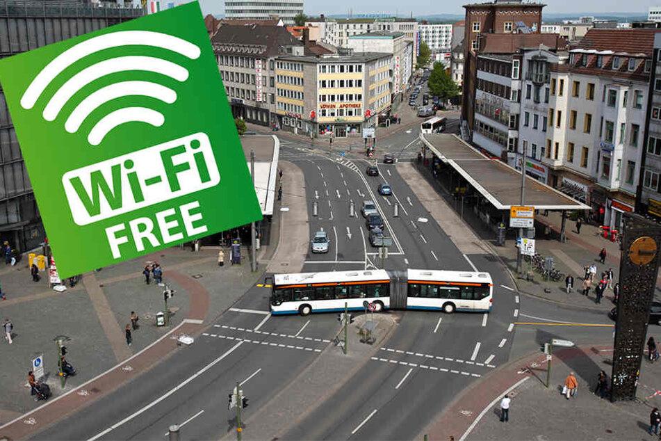 Ab sofort ist der freie WLAN-Zugang am Jahnplatz mögliche. Über 250 weitere Orte folgen.