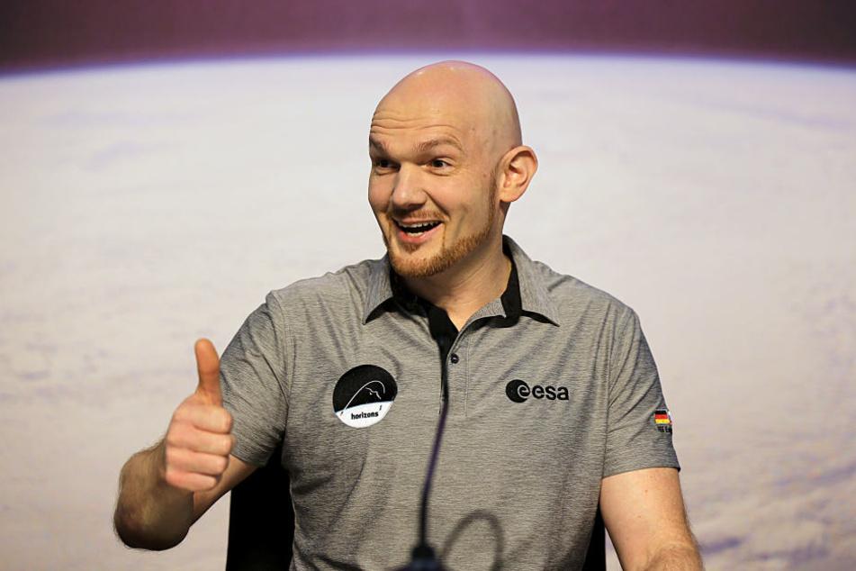 Alexander Gerst spricht im Europäischen Astronautenzentrum über das Ende seiner jüngsten Weltraummission.