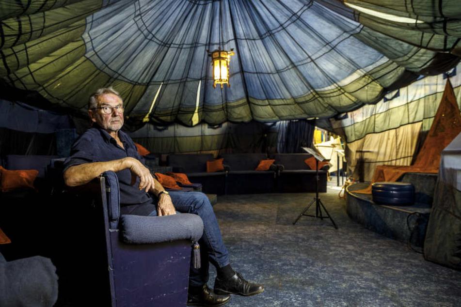 """1001-Märchen-Chef Rainer Petrovsky (70) würde sein Zelt am liebsten im """"Bräustübel"""" am Körnerplatz aufschlagen. Jetzt muss nur noch das Rathaus mitspielen ..."""