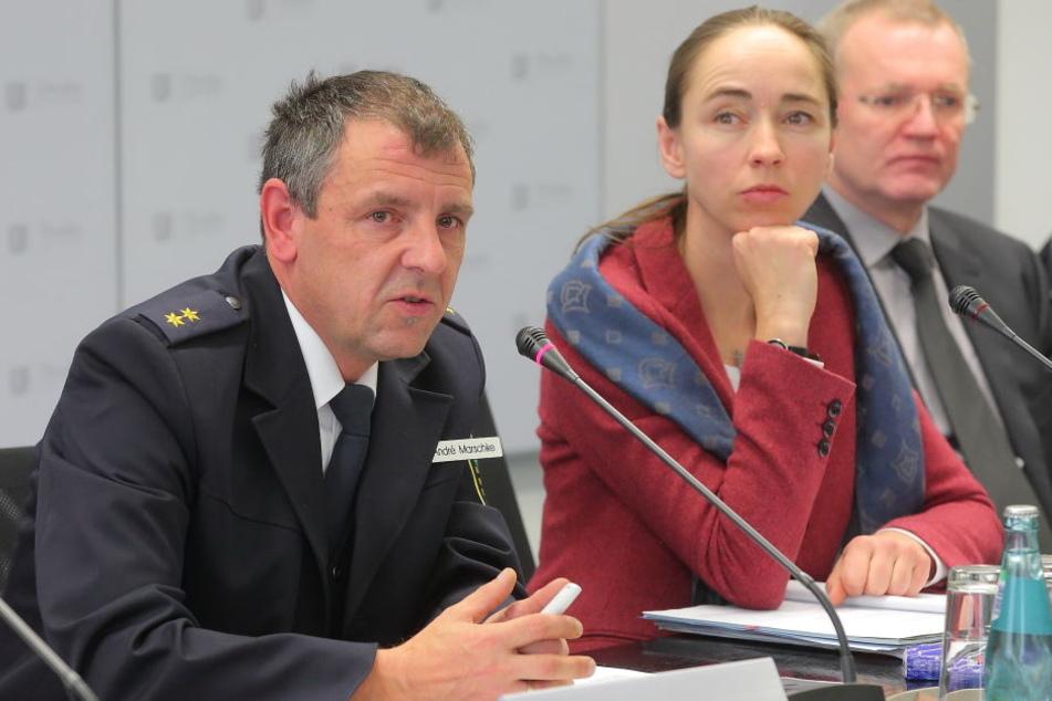Gemeinsam gegen Drogen-Kriminalität: Mitte-Revierleiter André Marschke (48, v.l.), Sozialbürgermeisterin Kristin Kaufmann (41, Linke) und Ordnungsbürgermeister Detlef Sittel (50, CDU).