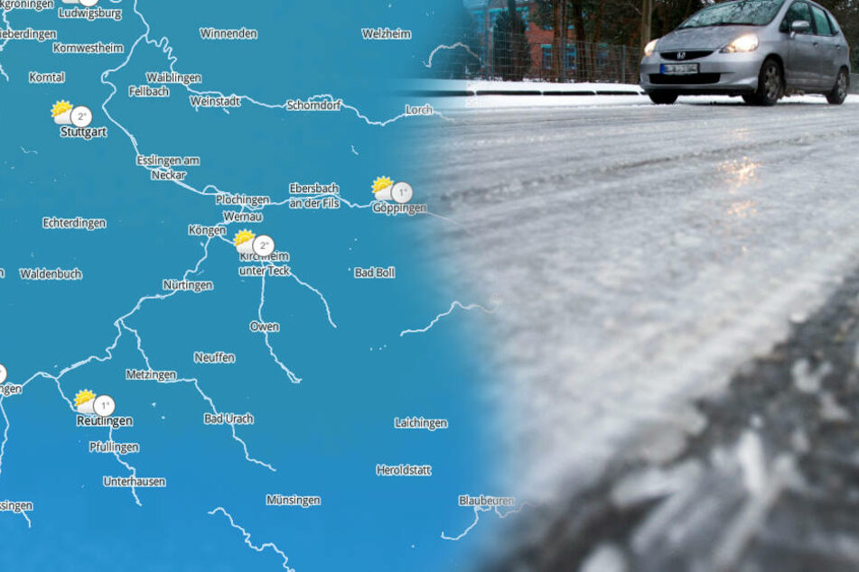 Bei Schnee und Glätte heißt es für Autofahrer und Fußgänger: Vorsicht! (Fotomontage/Symbolbild)