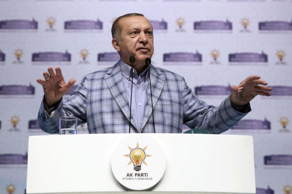 Recep Tayyip Erdogan wollte am Rande des G20-Gipfels vor seinen Anhängern in Deutschland sprechen.