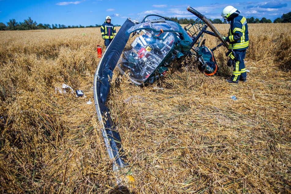 Nach Hubschrauber-Absturz auf Feld: Ermittler haben ersten Verdacht