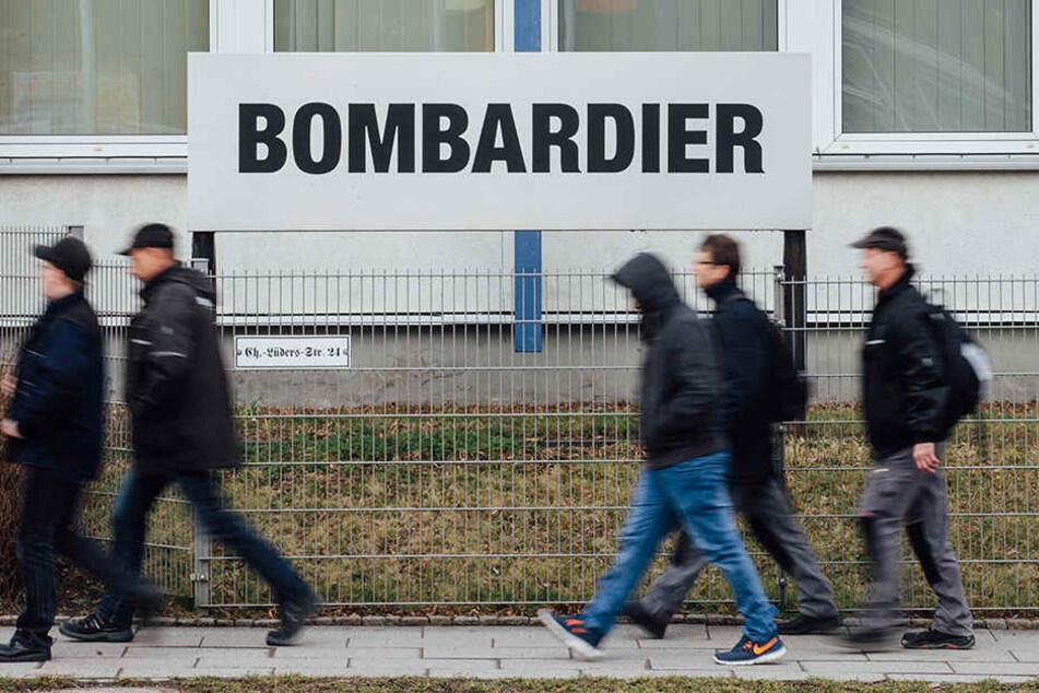 Die Bombardier-Mitarbeiter, wie hier in Görlitz, müssen um ihre Jobs bangen.