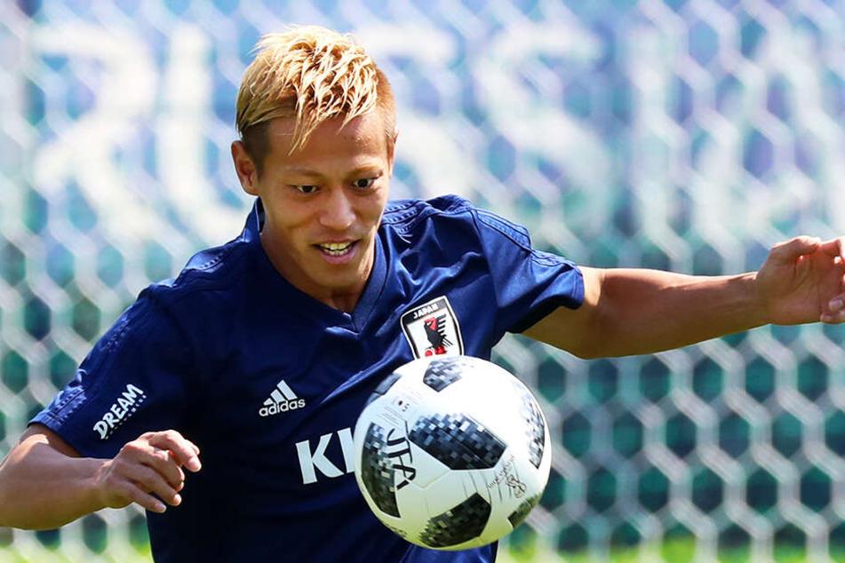 Keisuke Honda hat sich via Twitter beim AC Mailand und bei Manchester United beworben.