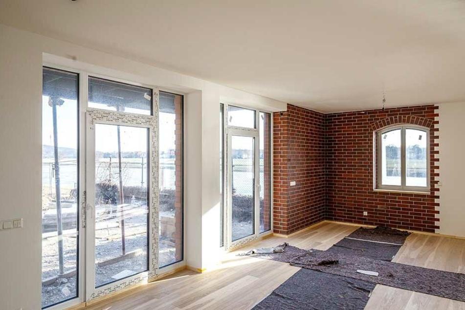 Im Inneren schreitet der Ausbau aber voran: Die Wohnungen im Kesselhaus sind quasi fertig.