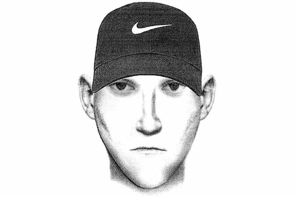 Mit diesem Phantombild sucht die Polizei nach dem Täter in Mülsen.