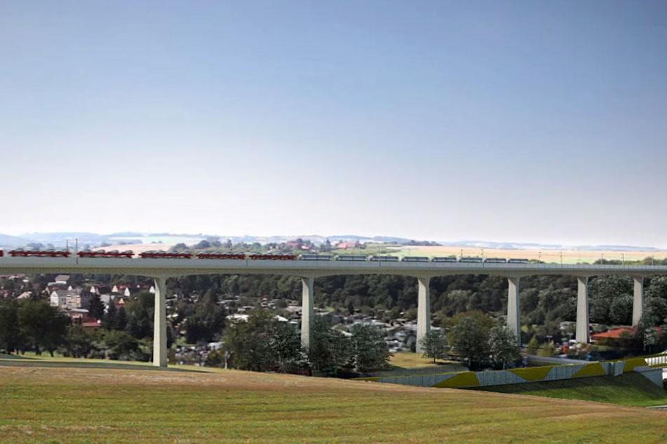Die neue Zugstrecke Dresden - Prag soll auch über das Seidewitztal vor. Eine Bürgerinitiative hat eigene Vorschläge.