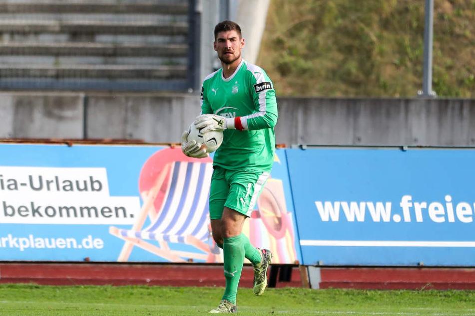 Steht am Sonntag gegen Ex-Verein Rostock offenbar wieder zwischen den Pfosten: FSV-Keeper Johannes Brinkies.