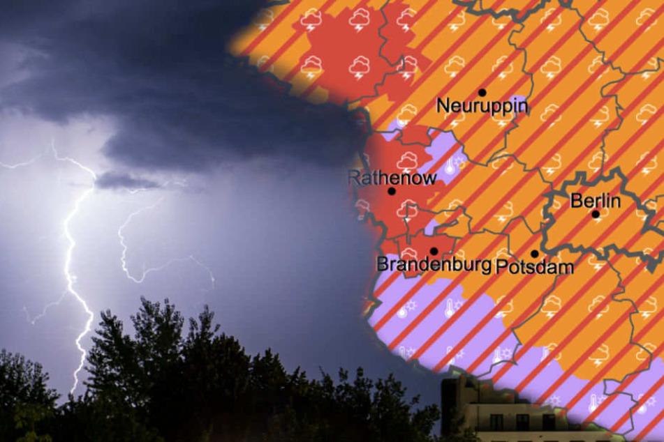 Starkregen, Hagel und Sturmböen: Extreme Unwetter drohen in Berlin und Brandenburg