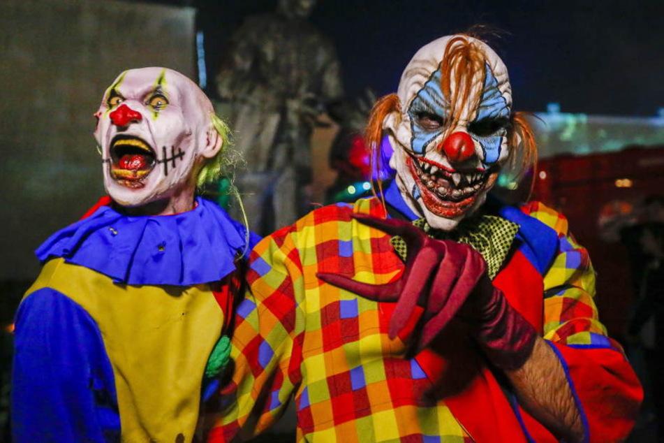 IN Thüringen waren mehrere Horror-Clowns unterwegs.