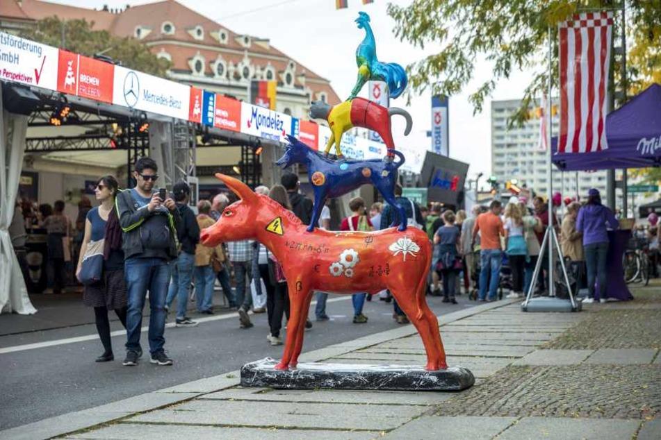 In Bremen dürfen natürlich die Bremer Stadtmusikanten nicht fehlen.