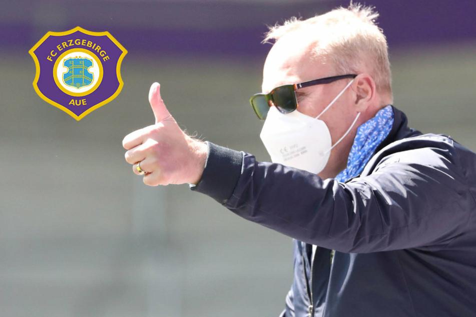 """Aue führt Pandemie-Klausel ein! Leonhardt: """"Jeder muss bluten"""""""