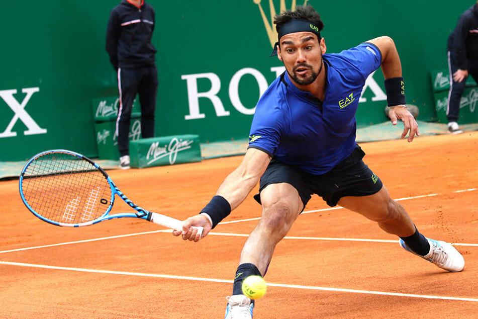 Fabio Fognini hatte seine große Sternstunde beim Tennis-Turnier in Monte Carlo.