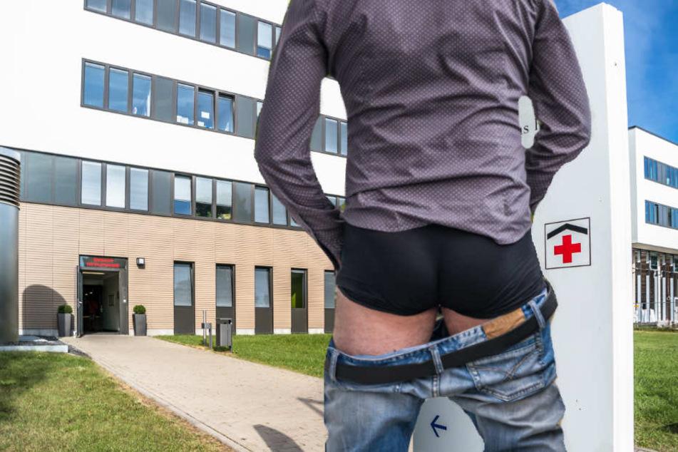 Vor dem Krankenhaus lies der 53-Jährige die Hose runter und onanierte. (Symbolbild)