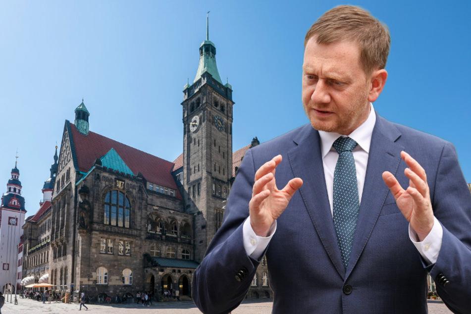 Sachsens Minister-Riege schwärmt heute durch Chemnitz