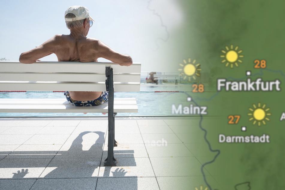 Am Sonntag ist vielerorts in Hessen Freibad-Wetter angesagt.