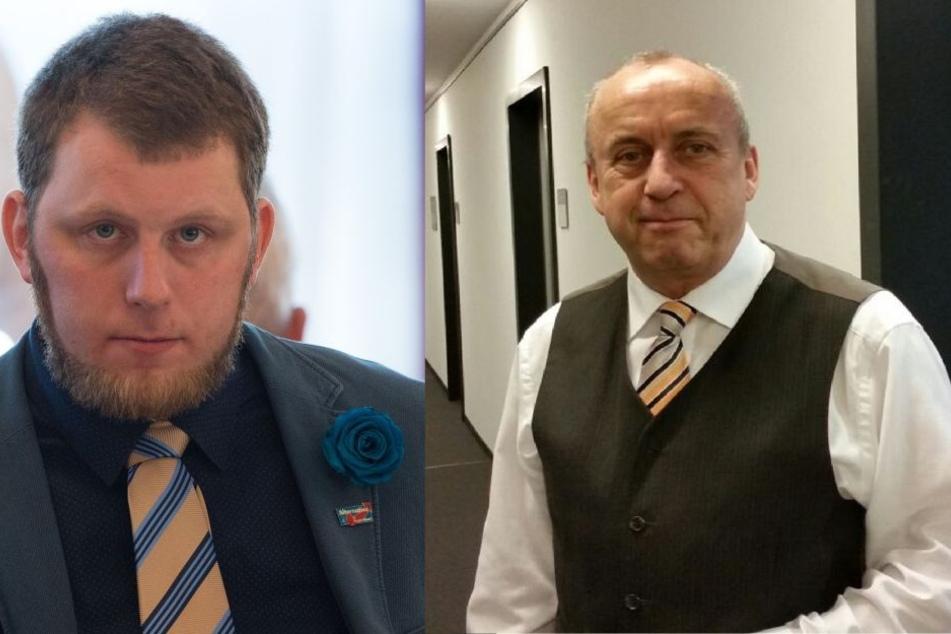 Die Gräben sind tief: AfD-Kreischef Frank-Frieder Forberg (61, rechts) und Benjamin Przybylla (37).