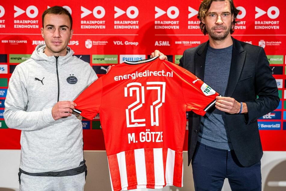 Seit kurzem bei PSV Eindhoven in den Niederlanden. Weltmeister Mario Götze (28).
