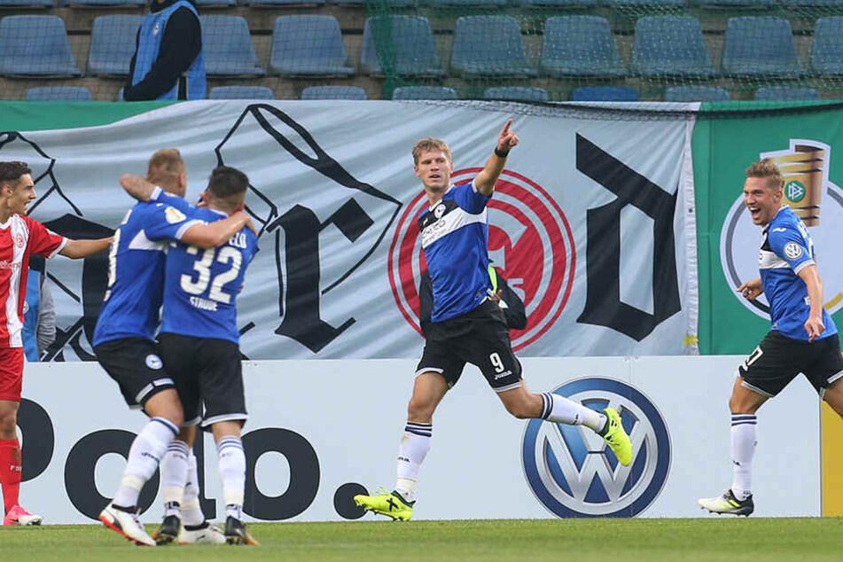 Drei Tore hat Fabian Klos bisher gemacht, eins davon im DFB-Pokal gegen Fortuna.