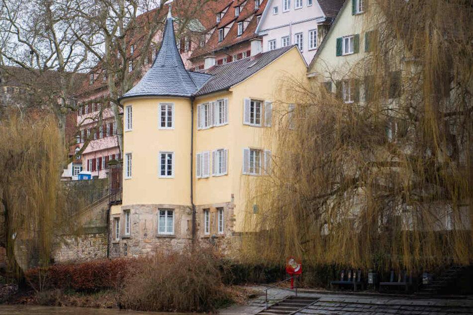 Der Neckar fließt am Hölderlinturm vorbei.