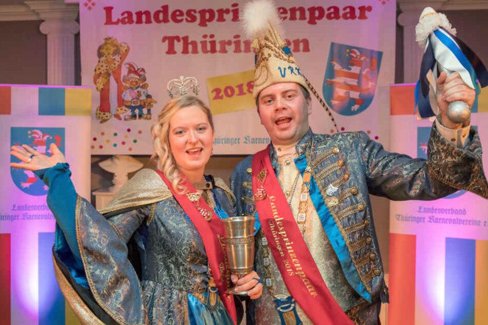 Stephanie Krauß und Enrico Sommer stehen jetzt an der Spitze der Thüringer Narren.