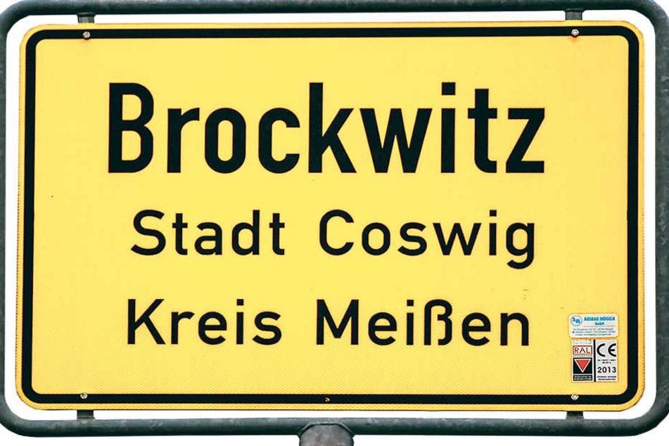 Das Ortsschild von Brockwitz.