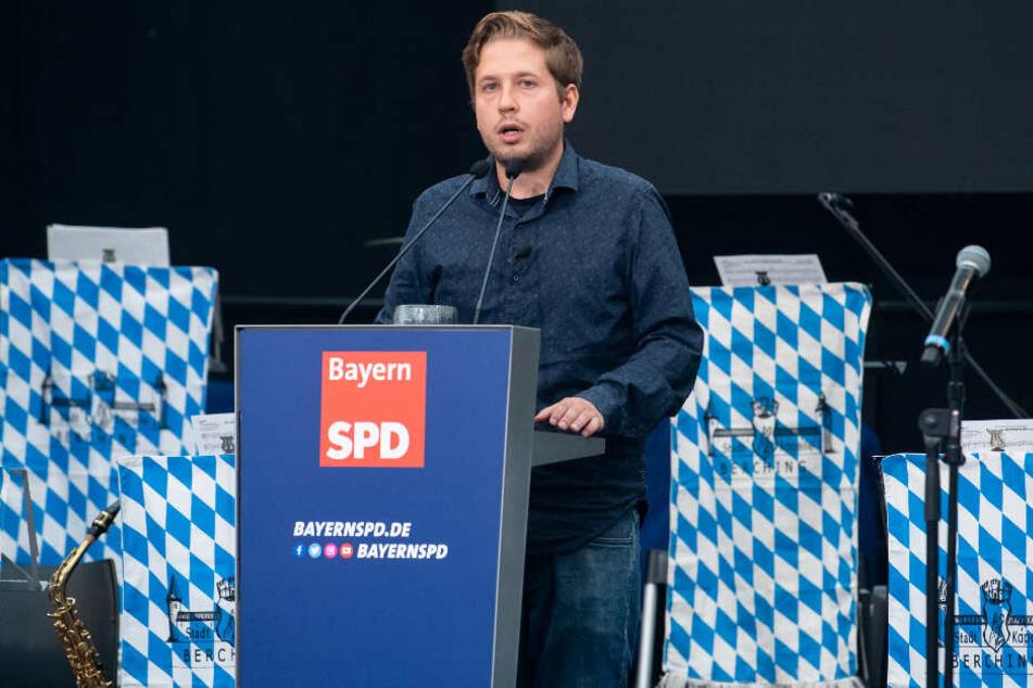 Kevin Kühnert vor wenigen Tagen im bayerischen Abensberg.