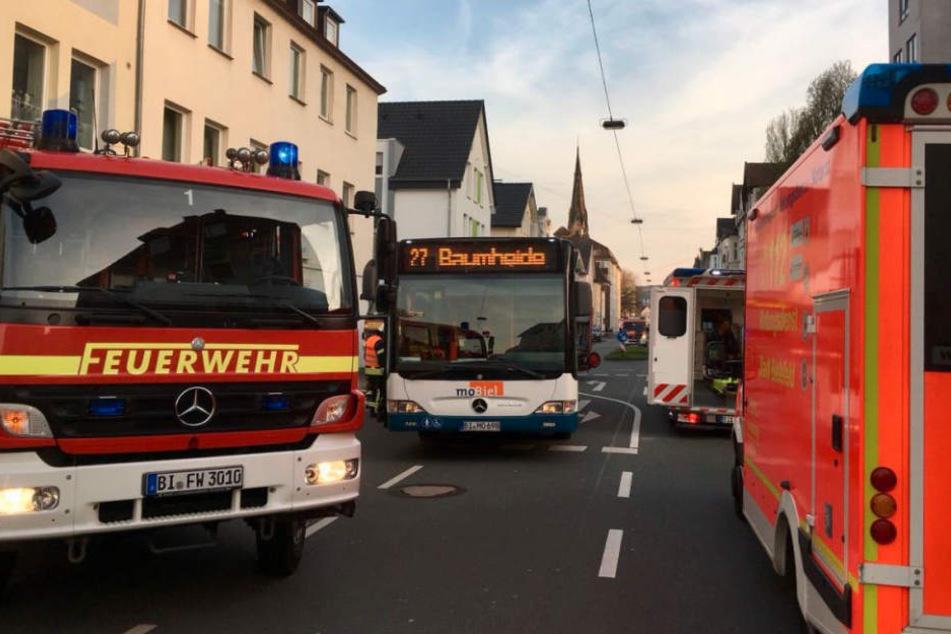 Von diesem Bus wurde die junge Frau überfahren.