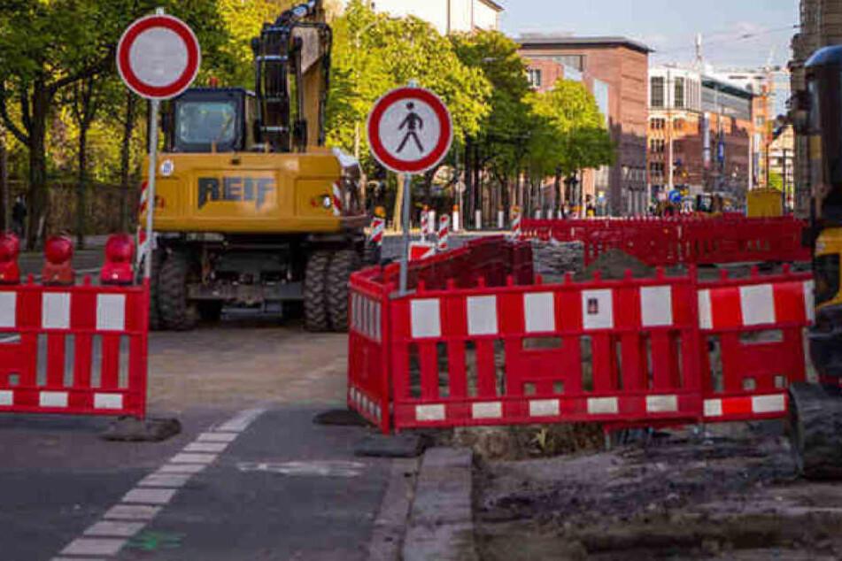 Ganze 58 Baustellen gibt es derzeit in Leipzig.