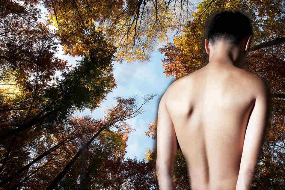 Wut auf den Ex! Frauen setzen nackten Mann im Wald aus