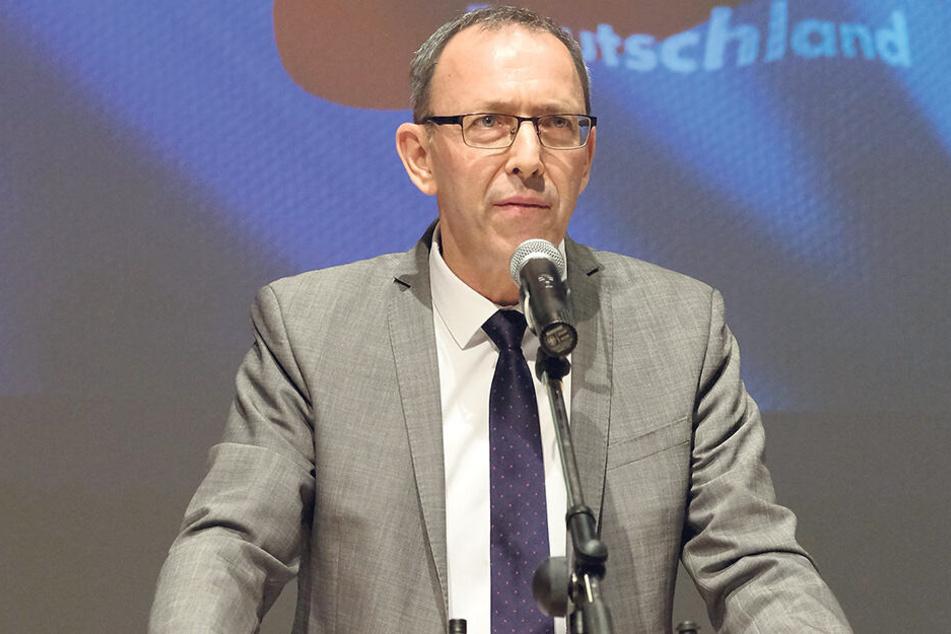 Sachsens AfD-Chef Jörg Urban (54). Seine Partei verzeichnet Zulauf in Sachsen.