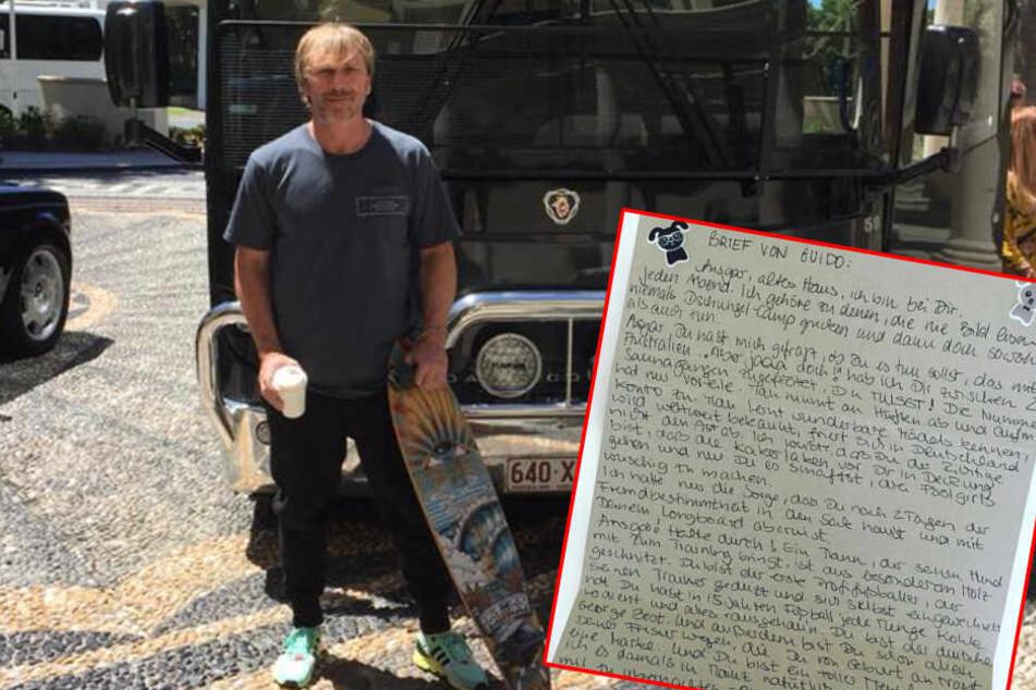 Ob dieser Brief Ansgar Brinkmann im Dschungelcamp umgestimmt hätte?