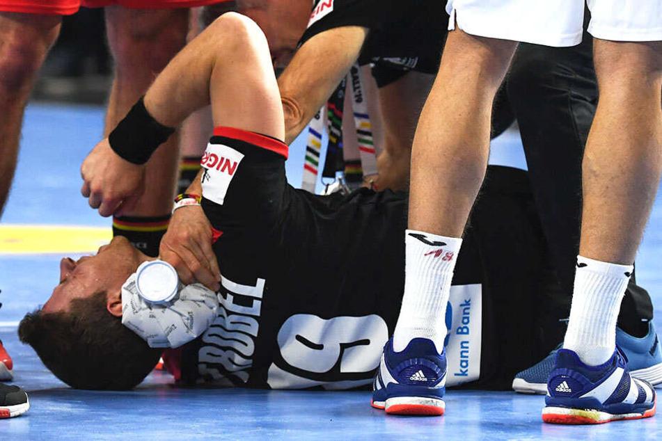 Martin Strobel riss sich beim Sieg gegen Kroatien das Kreuzband und das Innenband im linken Knie.