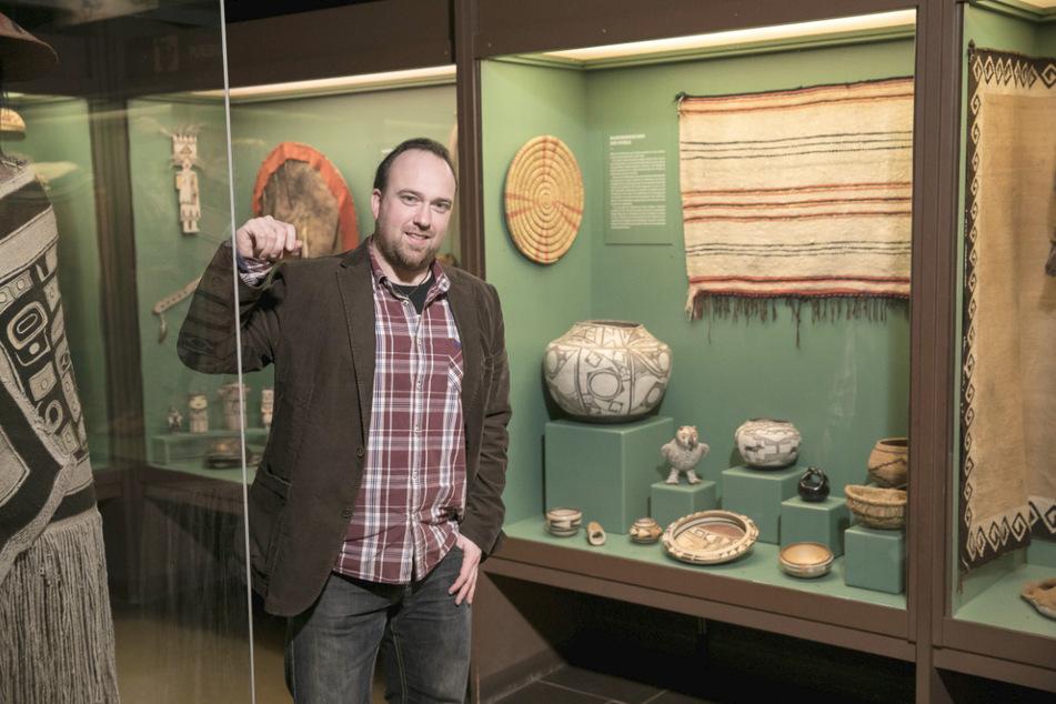 Der wissenschaftliche Direktor des Karl-May-Museums, Robin Leipold (33).