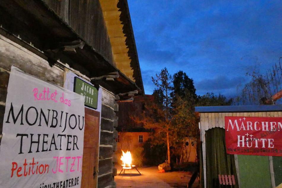 Die Märchenhütten auf dem Bunkerdach im Monbijoupark.